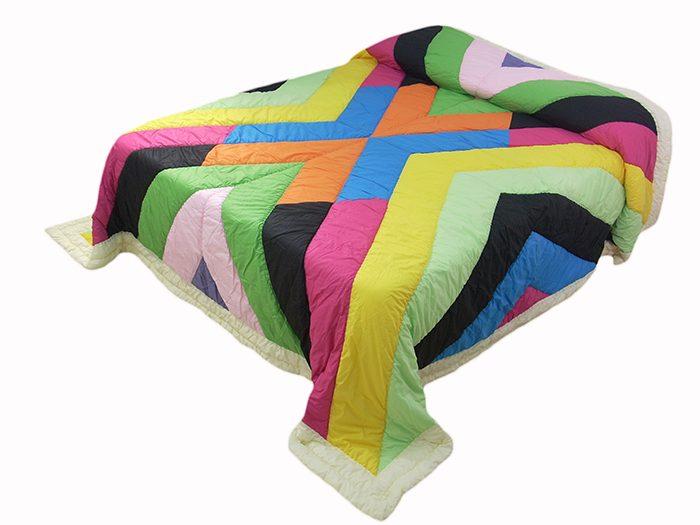 Trapunta patchwork matrimoniale 270*270 multicolore