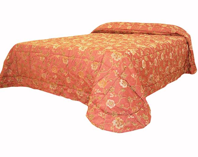 Trapunta matrimoniale rossa Trussardi fantasia rose 270*270 cm
