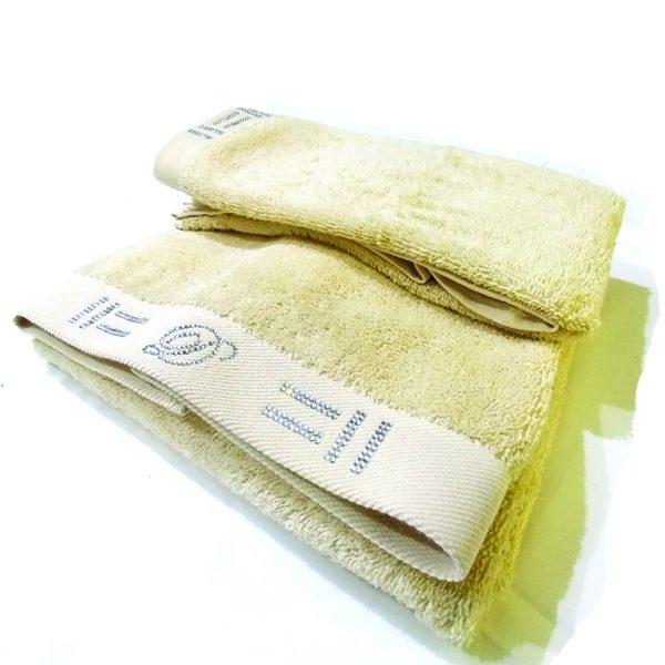 Asciugamani David Home con cristalli colore panna