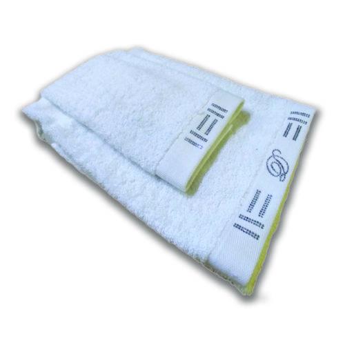 Asciugamani David Home con cristalli colore bianco