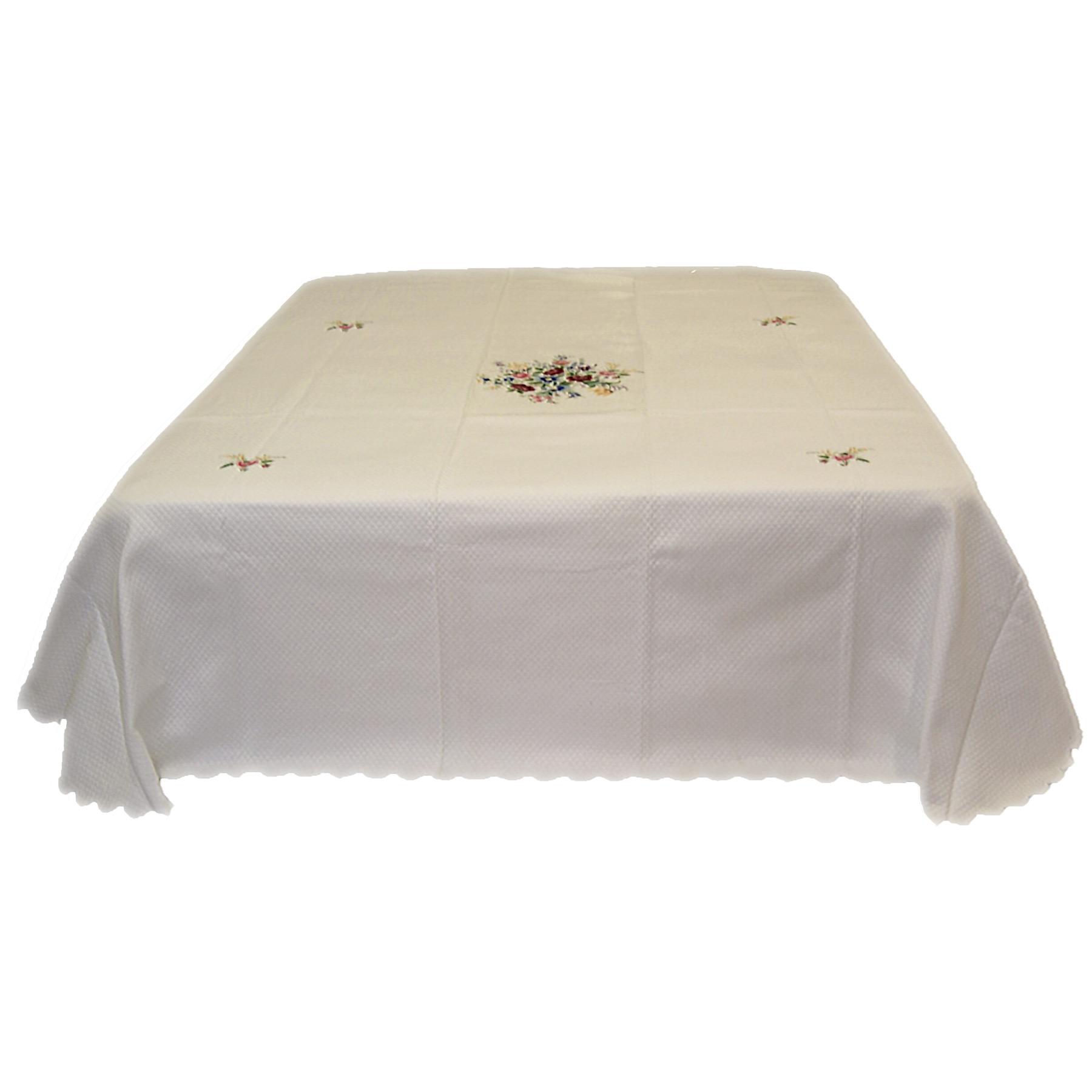 Copriletto Piquet Matrimoniale Bianco.Copriletto Matrimoniale Cotone Piquet Ricamata Rose Di Maggio Colore Bianco Piliero It Home Decor